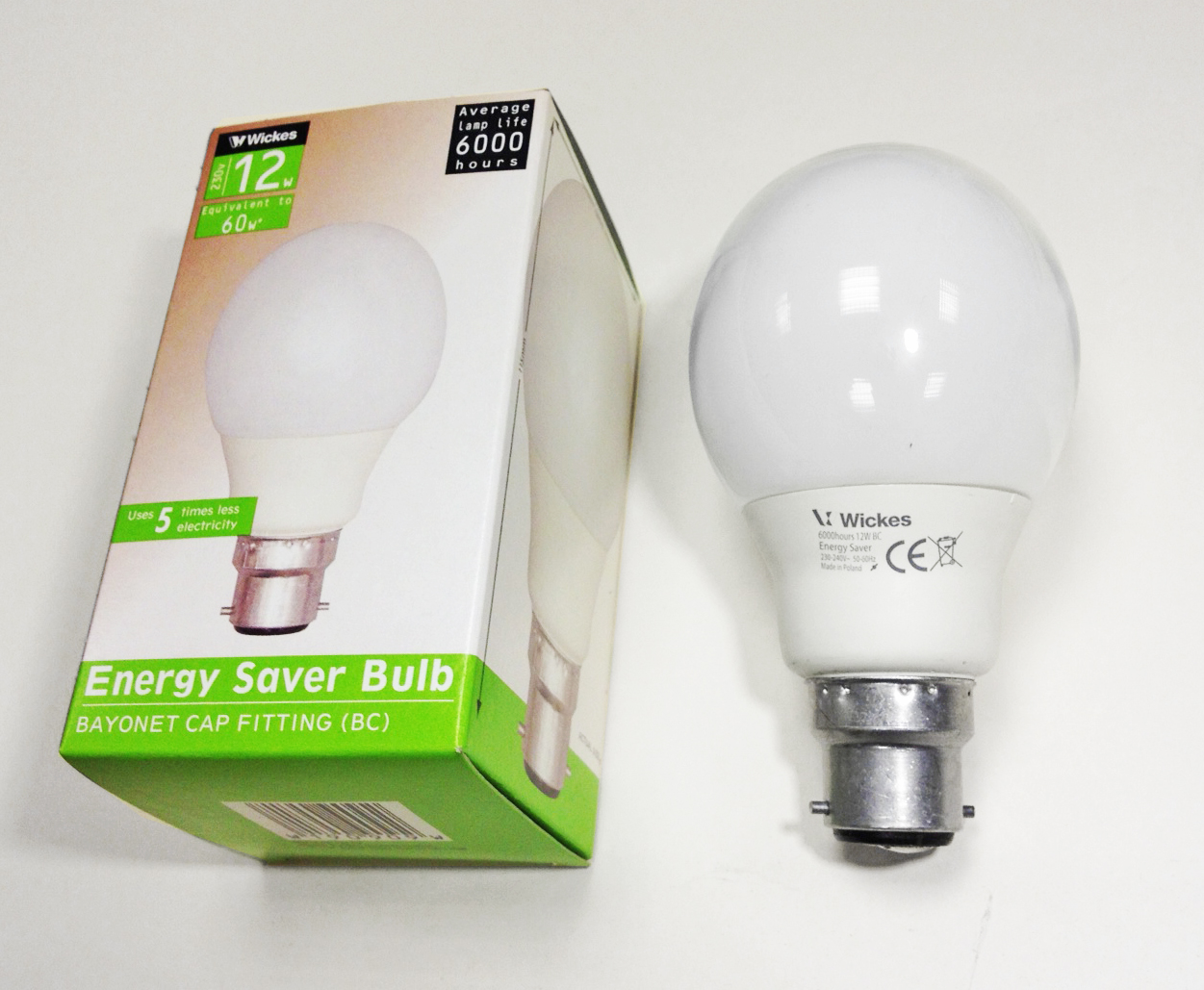 clearance wickes philips softone12w 60w bc b22 gls low energy. Black Bedroom Furniture Sets. Home Design Ideas